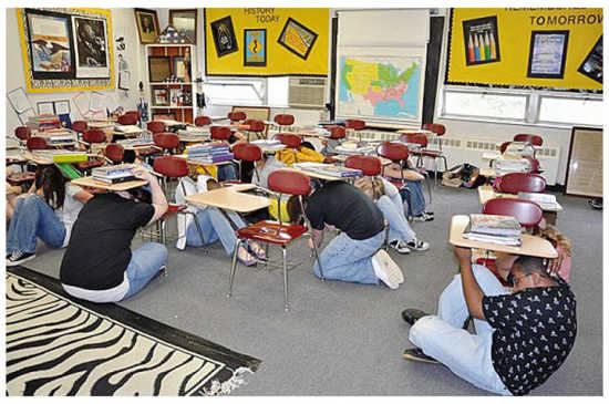 Earthquake Drill Procedures in School http://www.dddnews.com/story/1544459.html